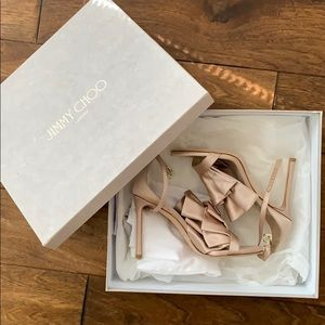 JIMMY CHOO Kami 100 sandal/pump sz 36 - dusty rose